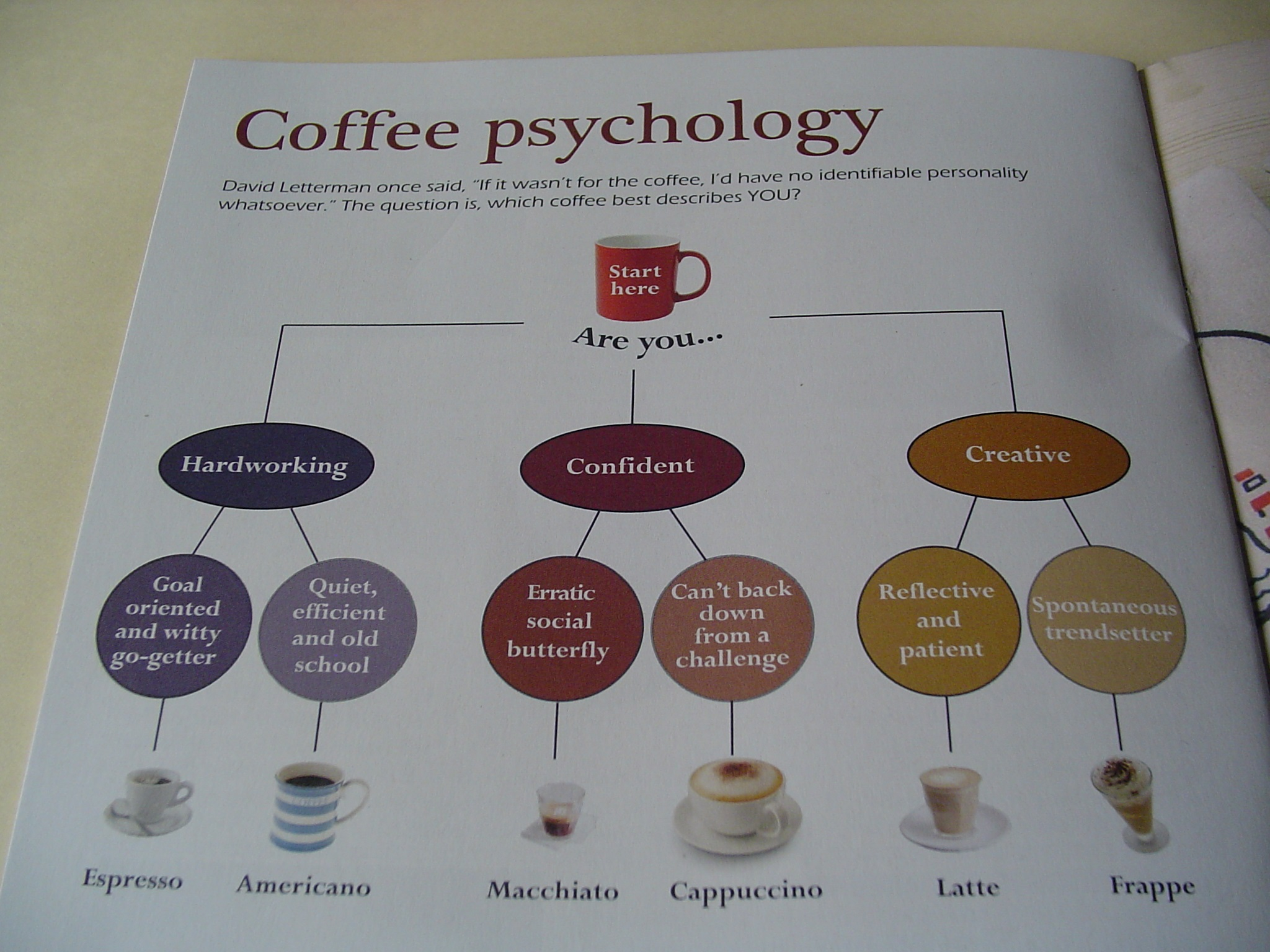 coffee psychology reflect your personality experience your life