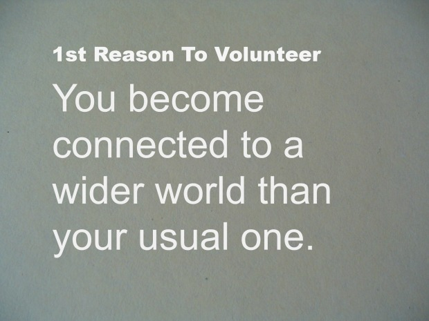 Your Connections Increase In Number When  You Volunteer
