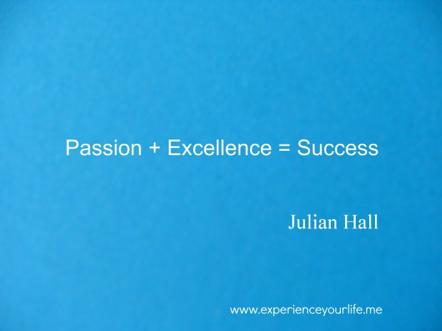 A Definition of Success Courtesy of Julian Hall