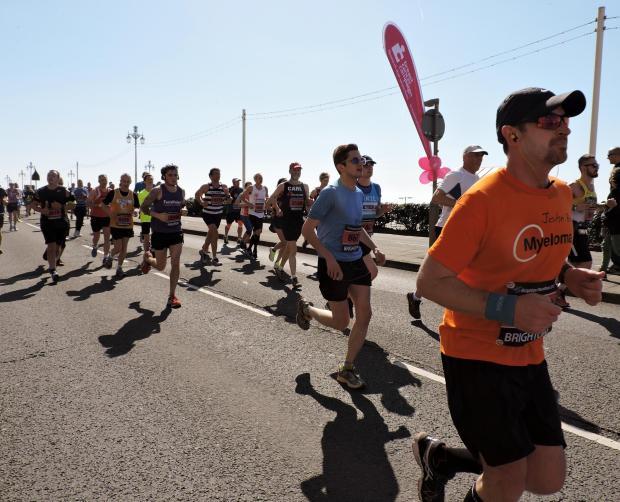 Runners In A Street Race