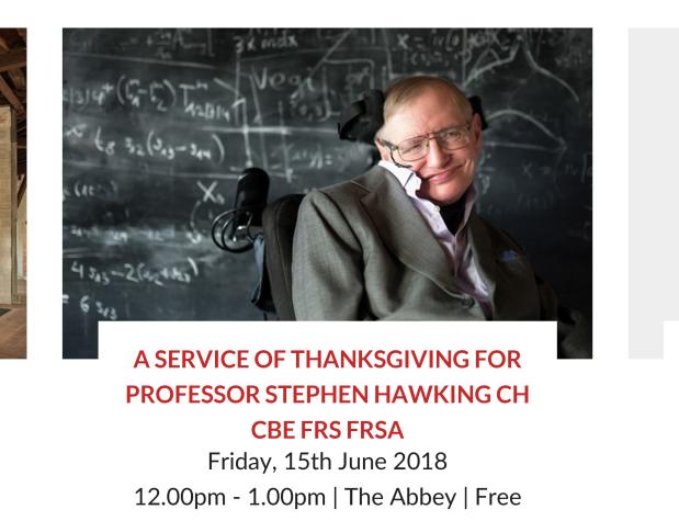 A Celebration of Stephen Hawking