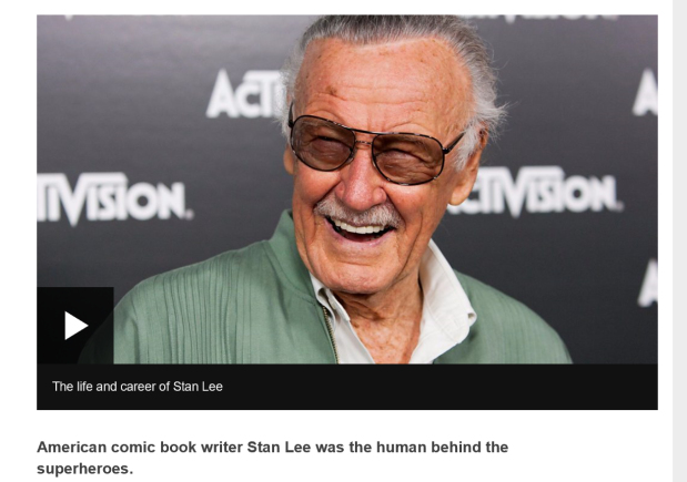 A Picture of Stan Lee From The BBC